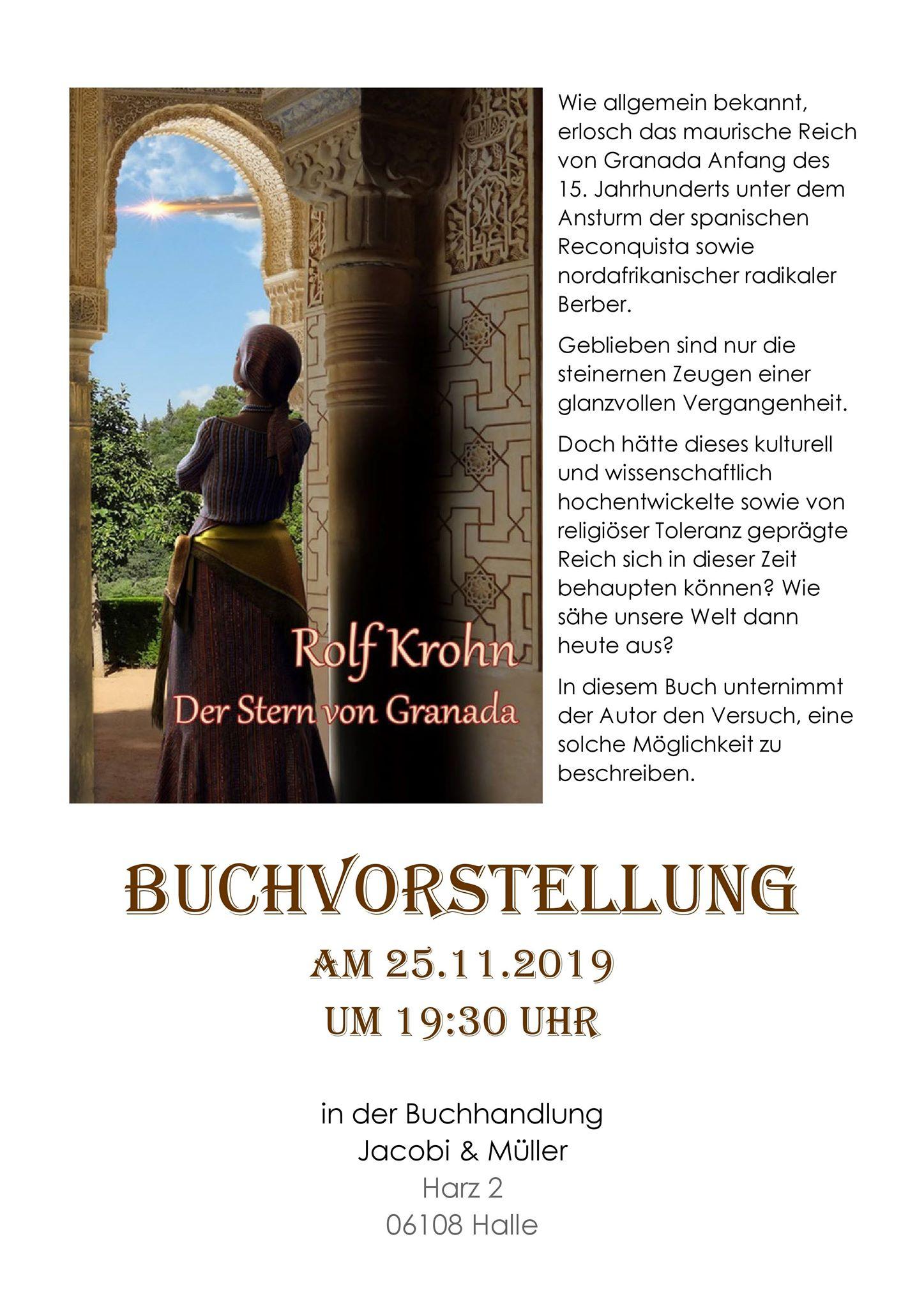 """Rolf Krohn liest in Halle aus """"Der Stern von Granada"""""""